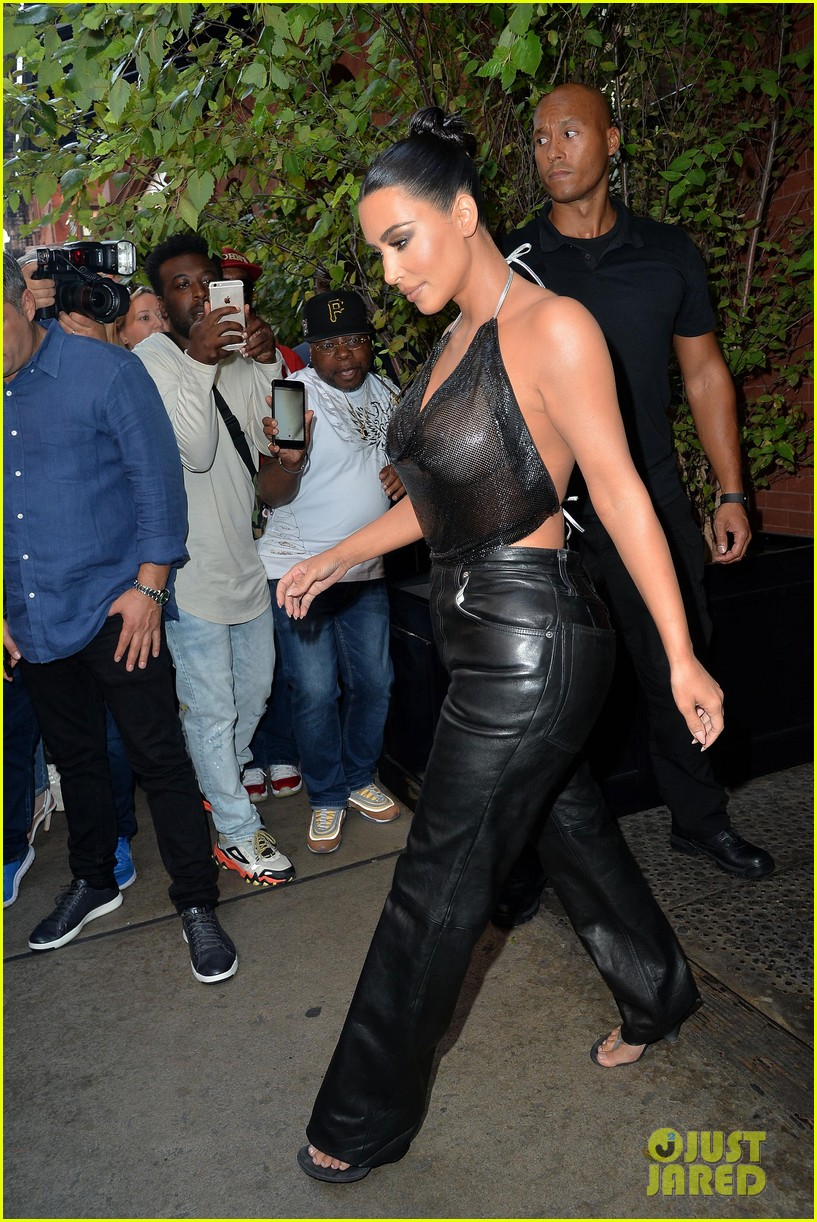 kim kardashian sports sheer halter top ahead of tonight show 044351249