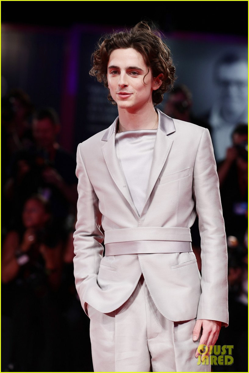 timothee chalamet lily rose depp the king venice premiere 154344009
