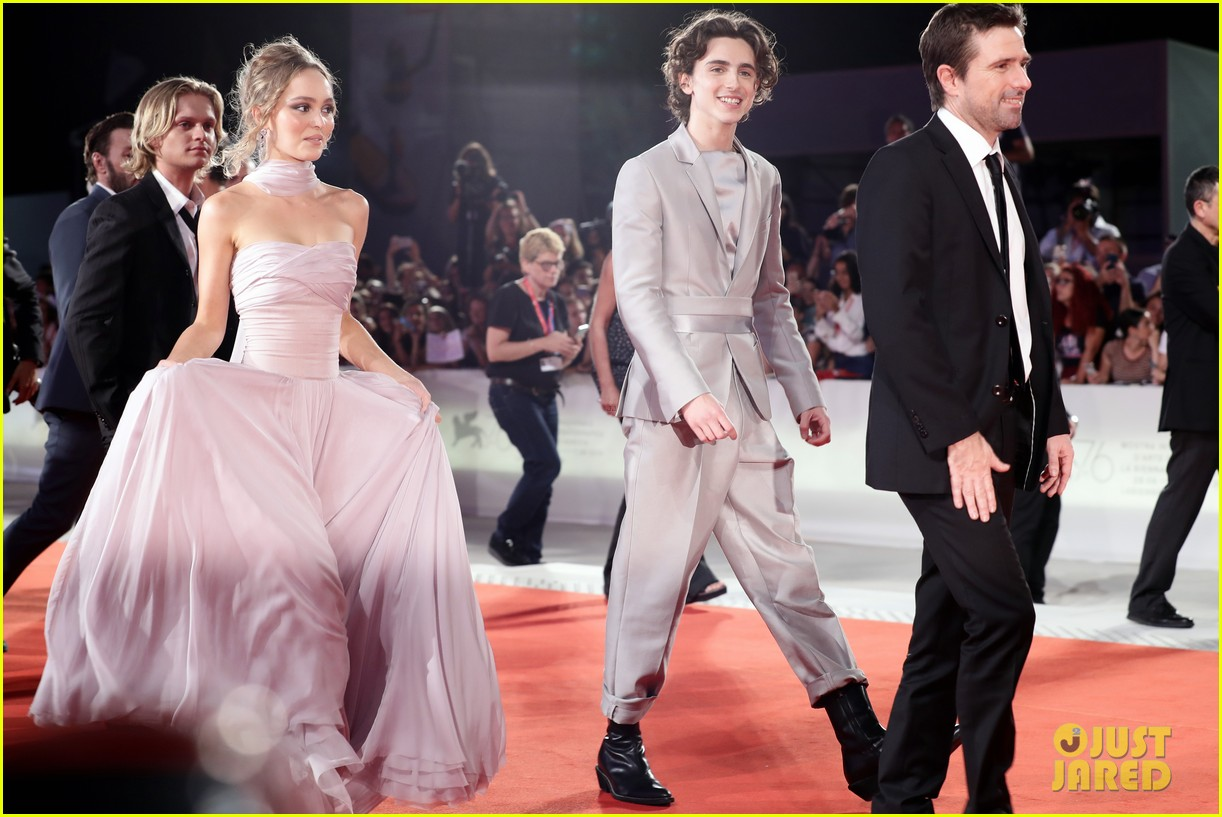 timothee chalamet lily rose depp the king venice premiere 424344036