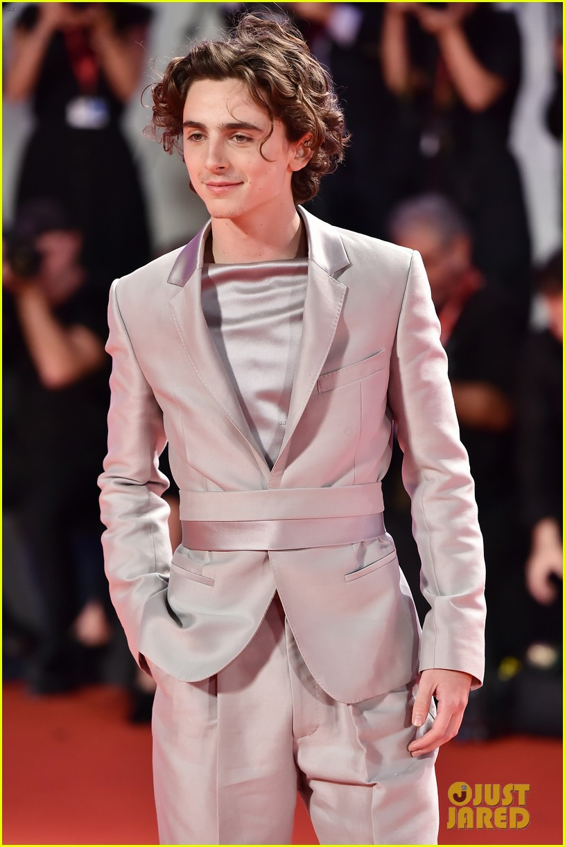 timothee chalamet lily rose depp the king venice premiere 484344042