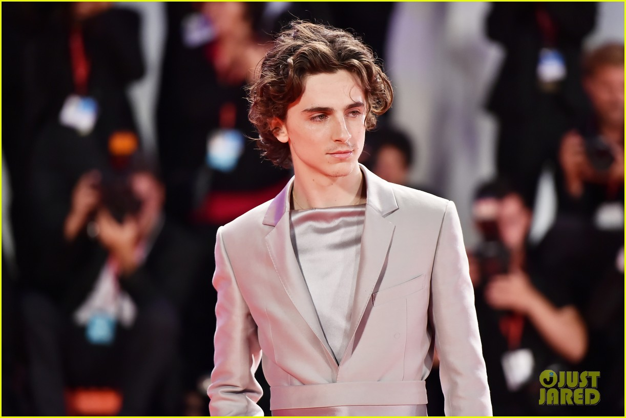 timothee chalamet lily rose depp the king venice premiere 514344045