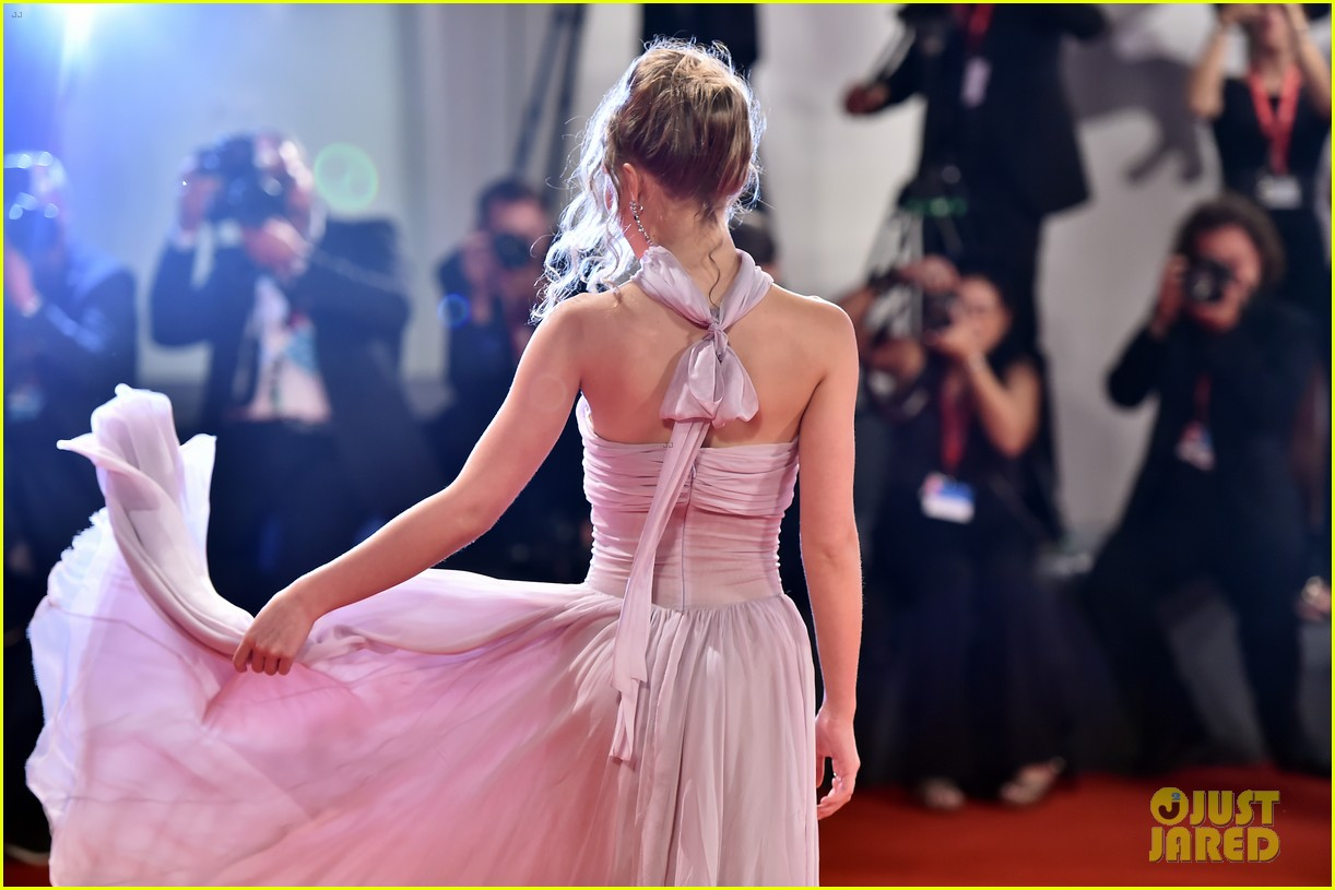 timothee chalamet lily rose depp the king venice premiere 534344047
