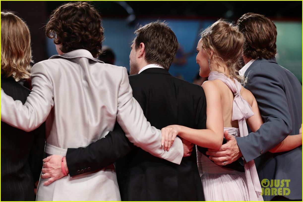 timothee chalamet lily rose depp the king venice premiere 584344052