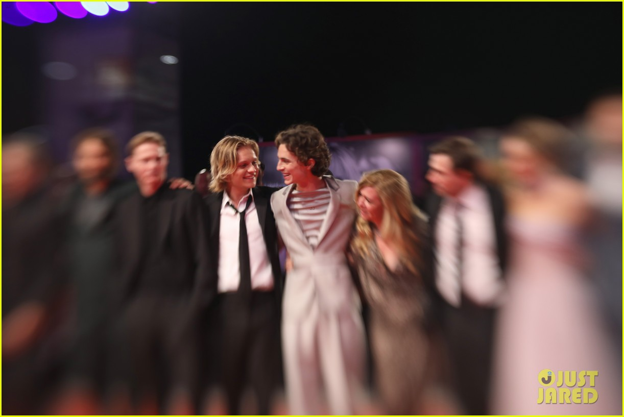 timothee chalamet lily rose depp the king venice premiere 624344056