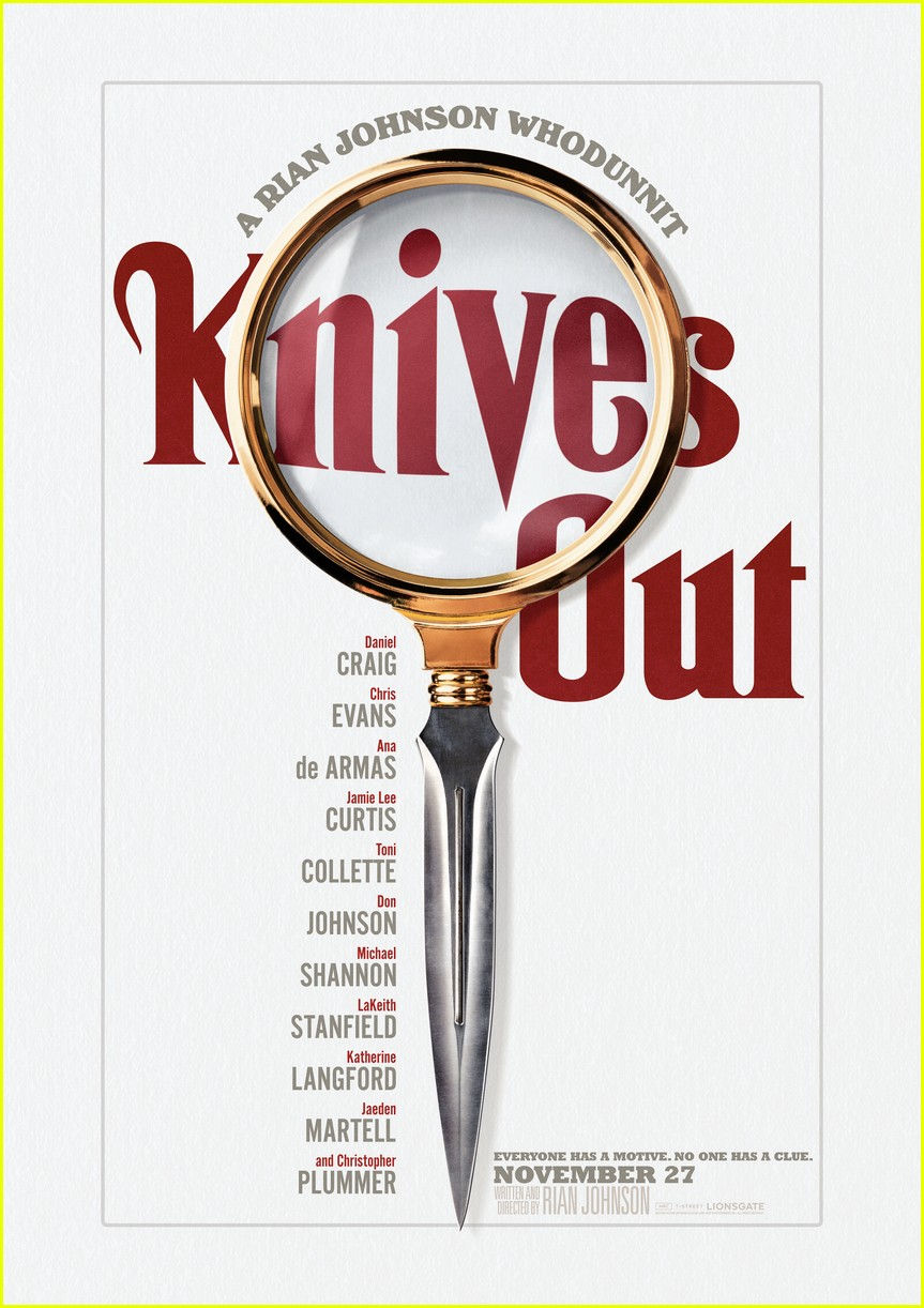 chris evans looks for clues in knives out trailer chris evans more 014354795
