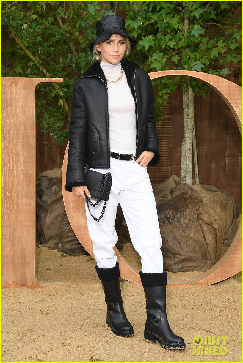 jennifer lawrence nina dobrev karlie kloss go all black for dior paris fashion show 144359239