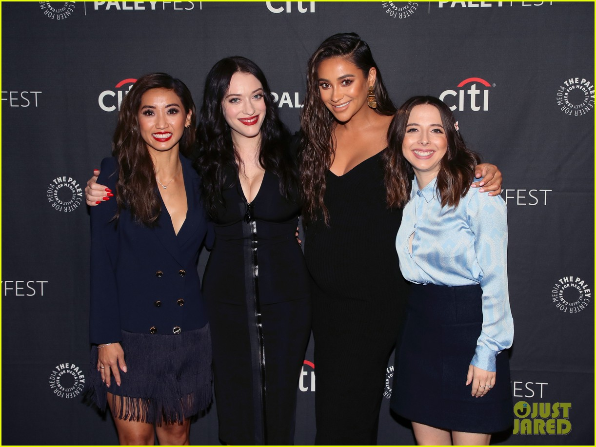shay mitchell dollface cast at paley 314350826