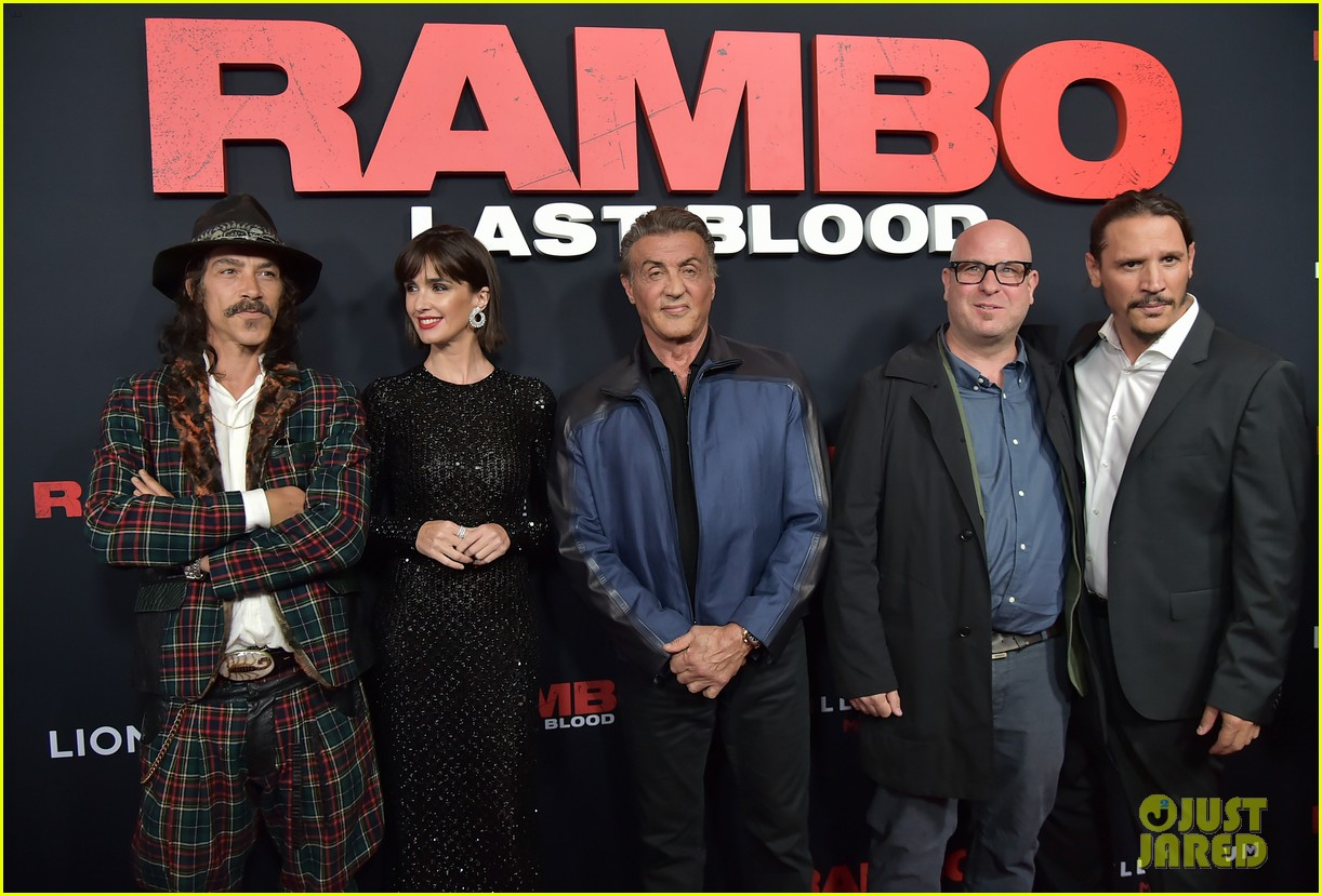 sylvester stallone hits the red carpet rambo last blood premiere 144355144