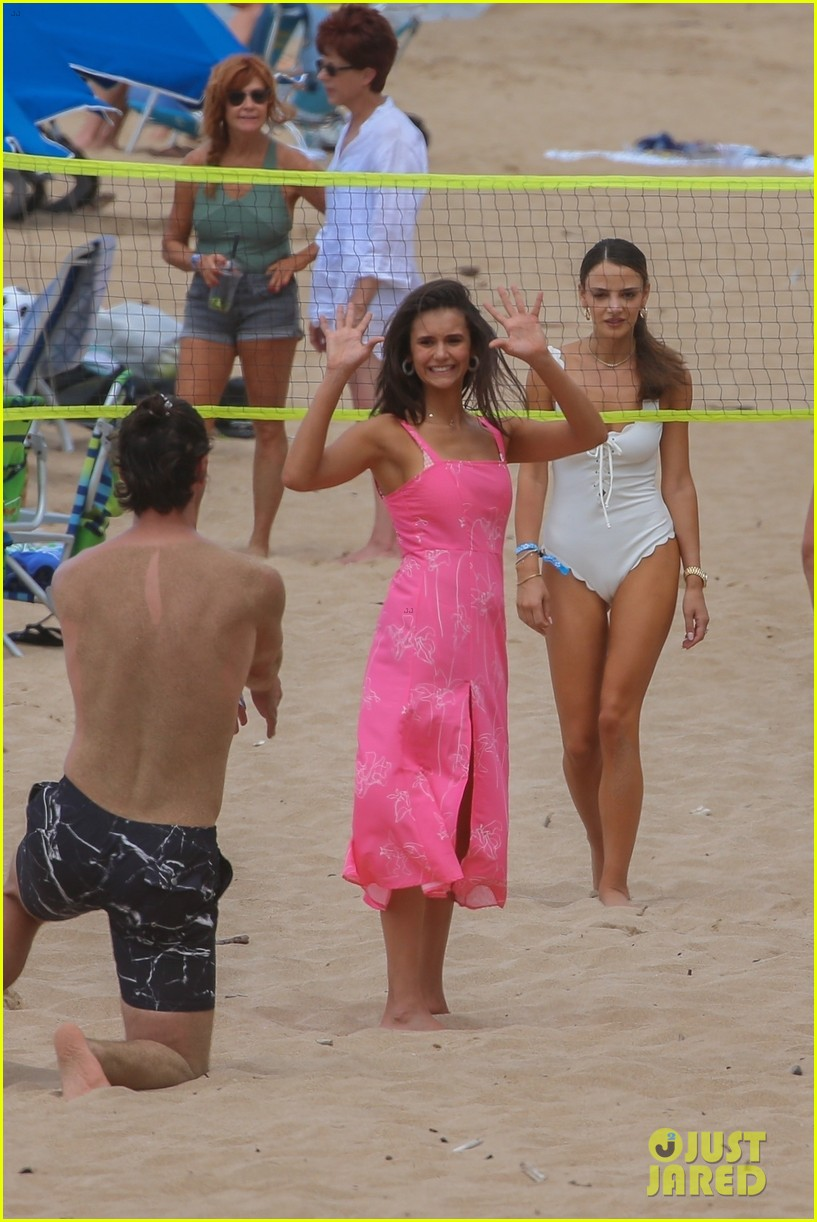 miles teller nina dobrev at the beach hawaii 034344059