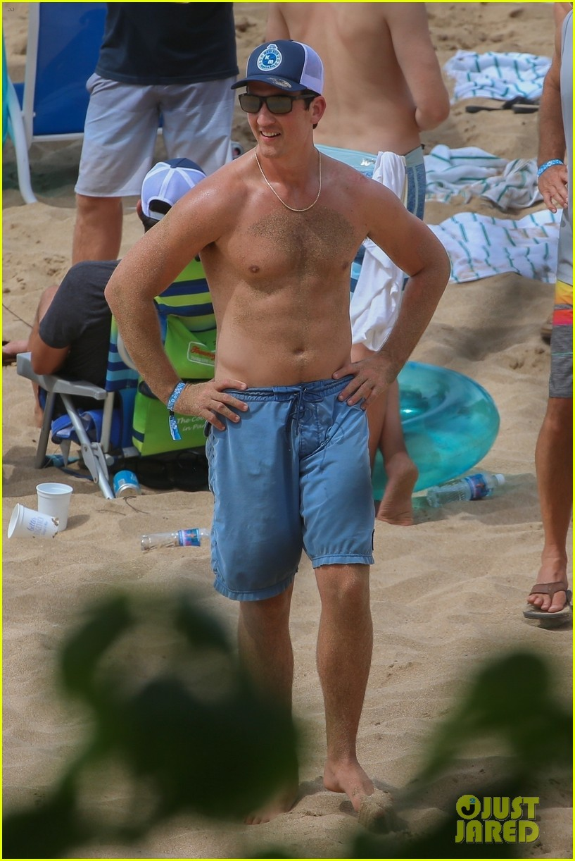 miles teller nina dobrev at the beach hawaii 044344060