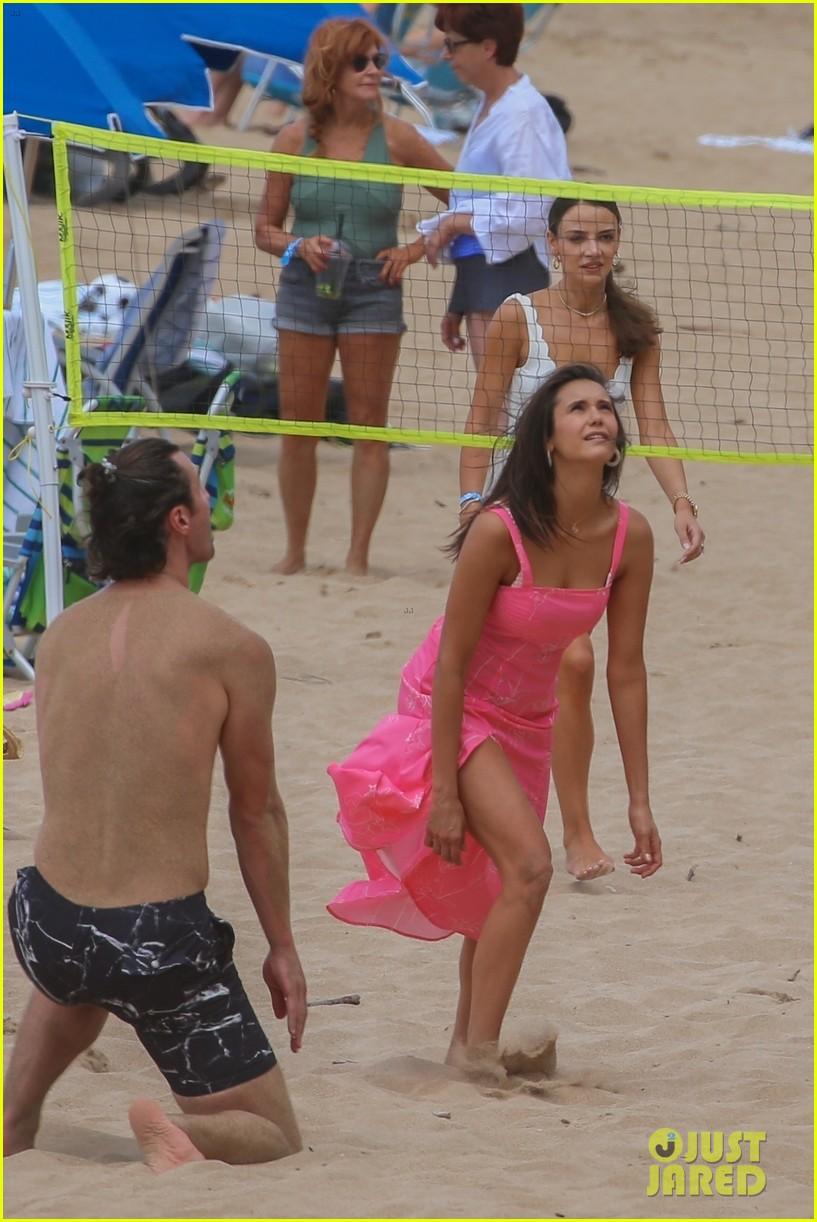 miles teller nina dobrev at the beach hawaii 134344069