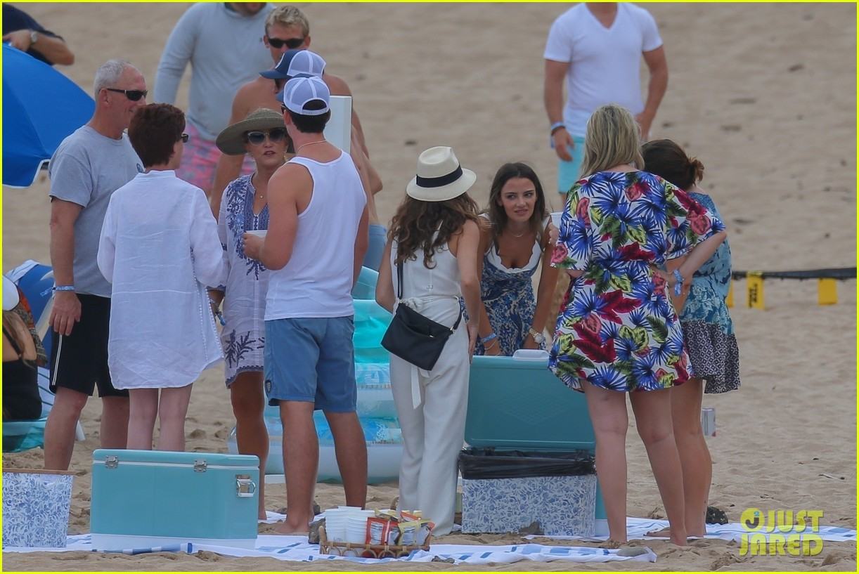 miles teller nina dobrev at the beach hawaii 154344071