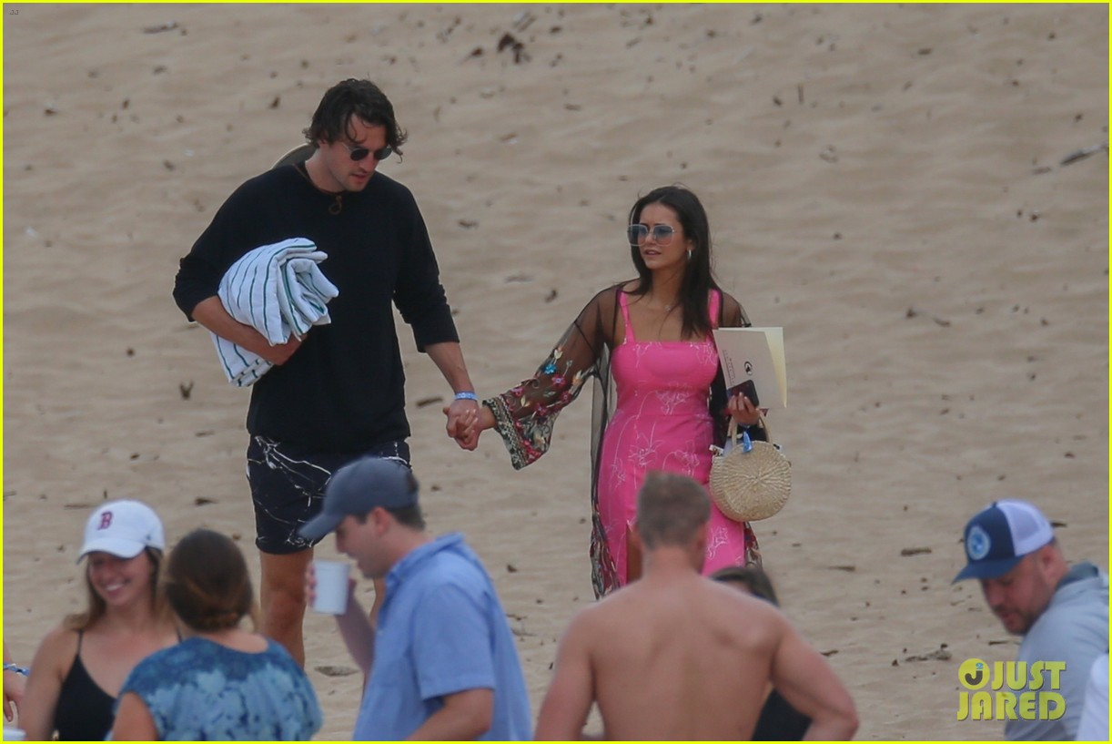 miles teller nina dobrev at the beach hawaii 164344072