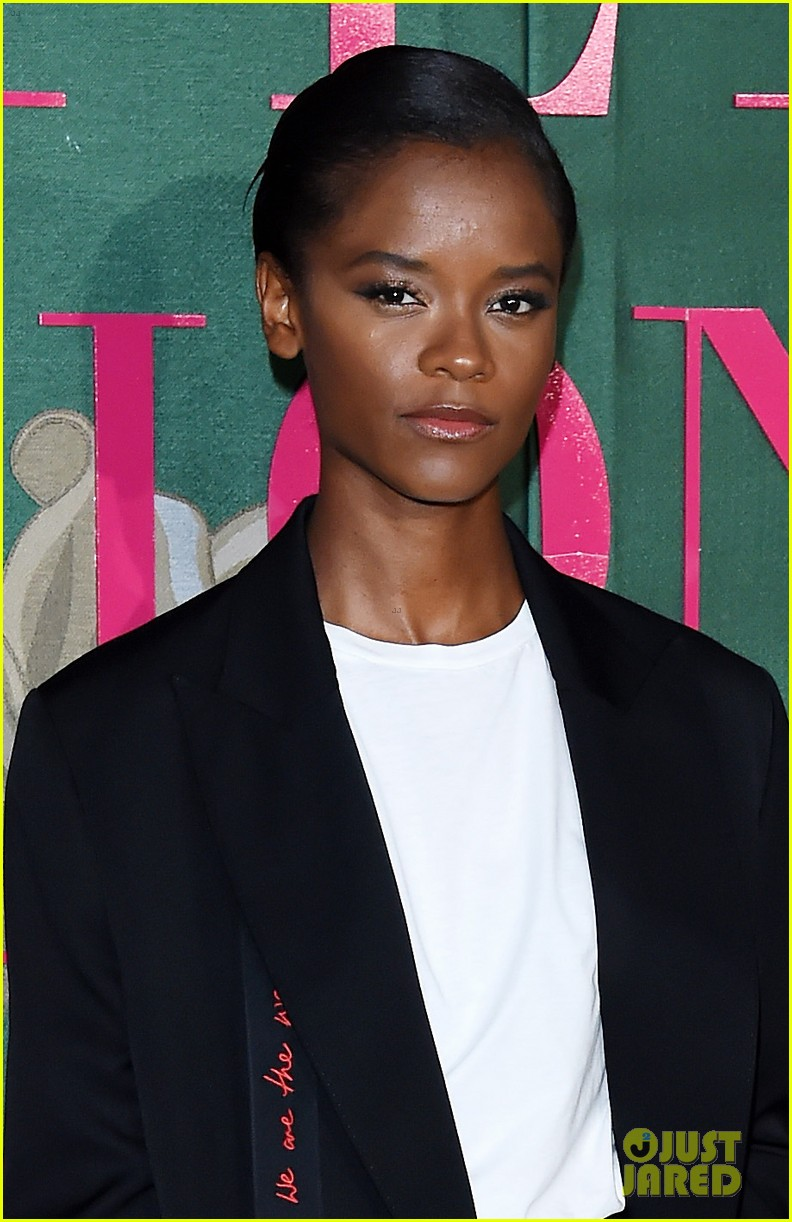 shailene woodley letitia wright go glam in black green carpet fashion awards 034358490