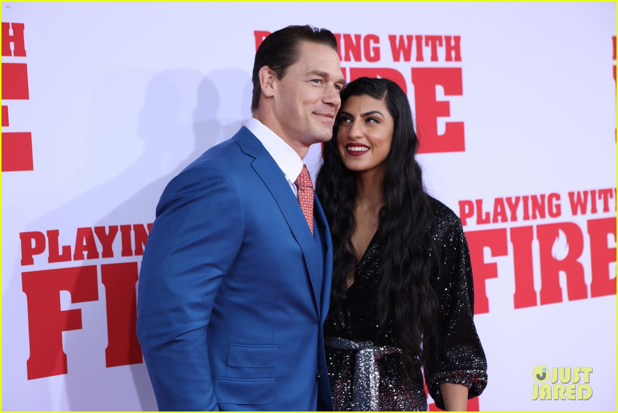 John Cena Girlfriend Shay Shariatzadeh Make Red Carpet Debut At Playing With Fire Premiere Photo 4377138 Andy Fickman Brianna Hildebrand Christian Convery Dennis Haysbert Elisa Pugliese Finley Rose Slater John