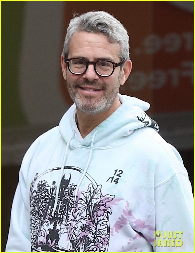 andy cohen is all smiles on morning walk dog wacha 044374456