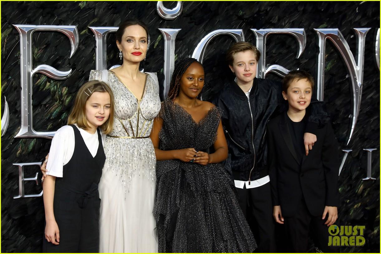 angelina jolie maleficent premiere kids 024368554
