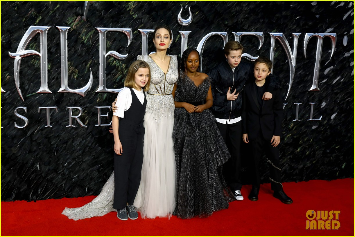 angelina jolie maleficent premiere kids 034368555