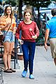 anna kendrick films love life in dinosaur socks and crocs 01