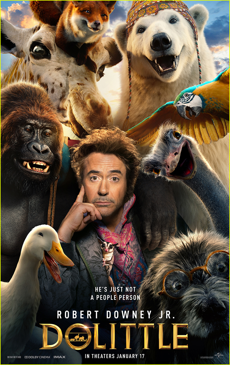 Robert Downey Jr Stars In First Dolittle Poster Photo