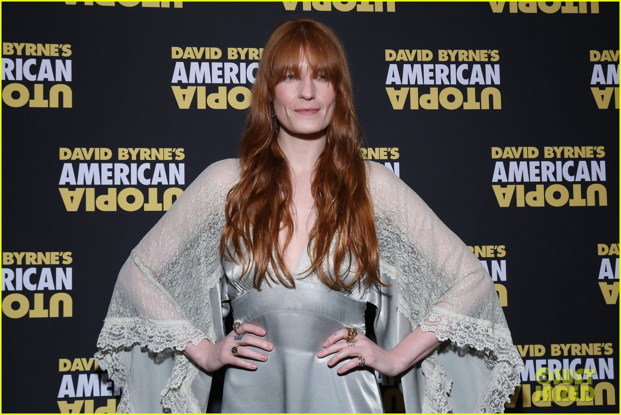 florence welch dazzles in silver american utopia opening night 044374434