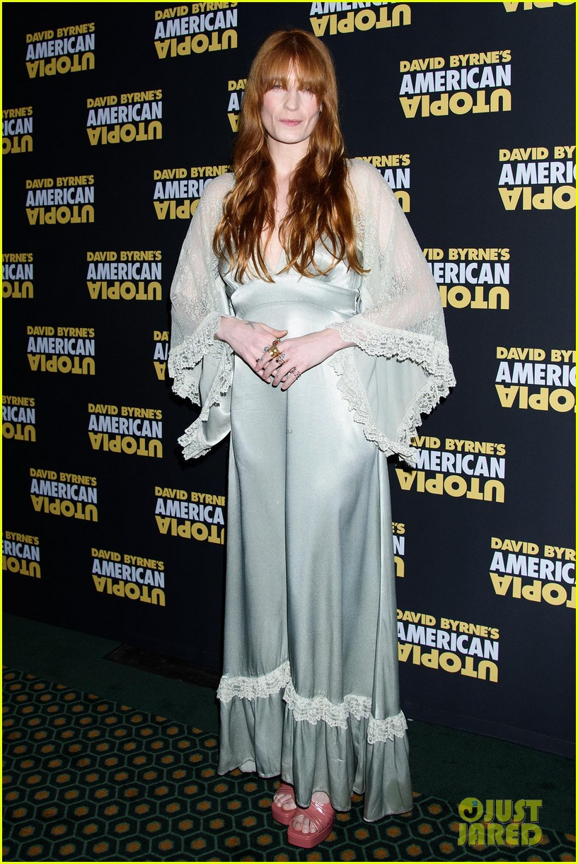 florence welch dazzles in silver american utopia opening night 094374439