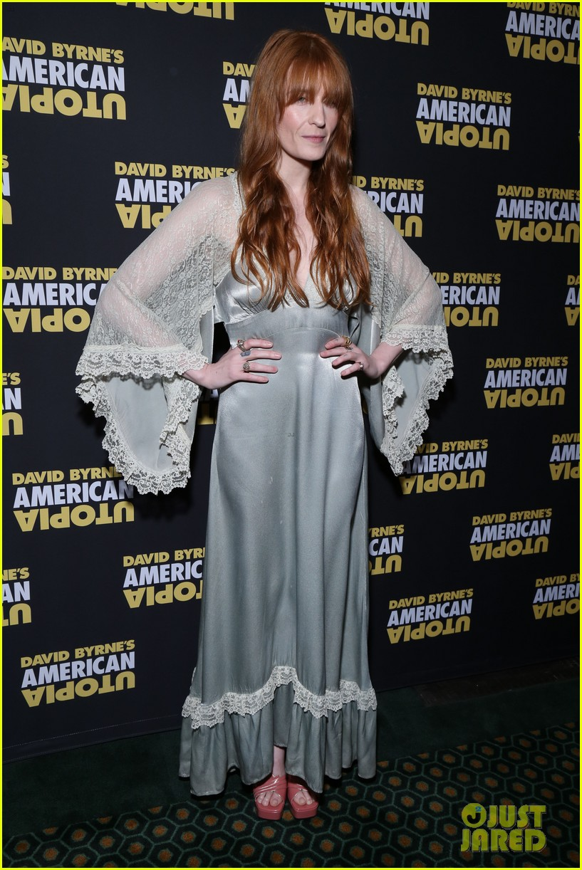 florence welch dazzles in silver american utopia opening night 114374441