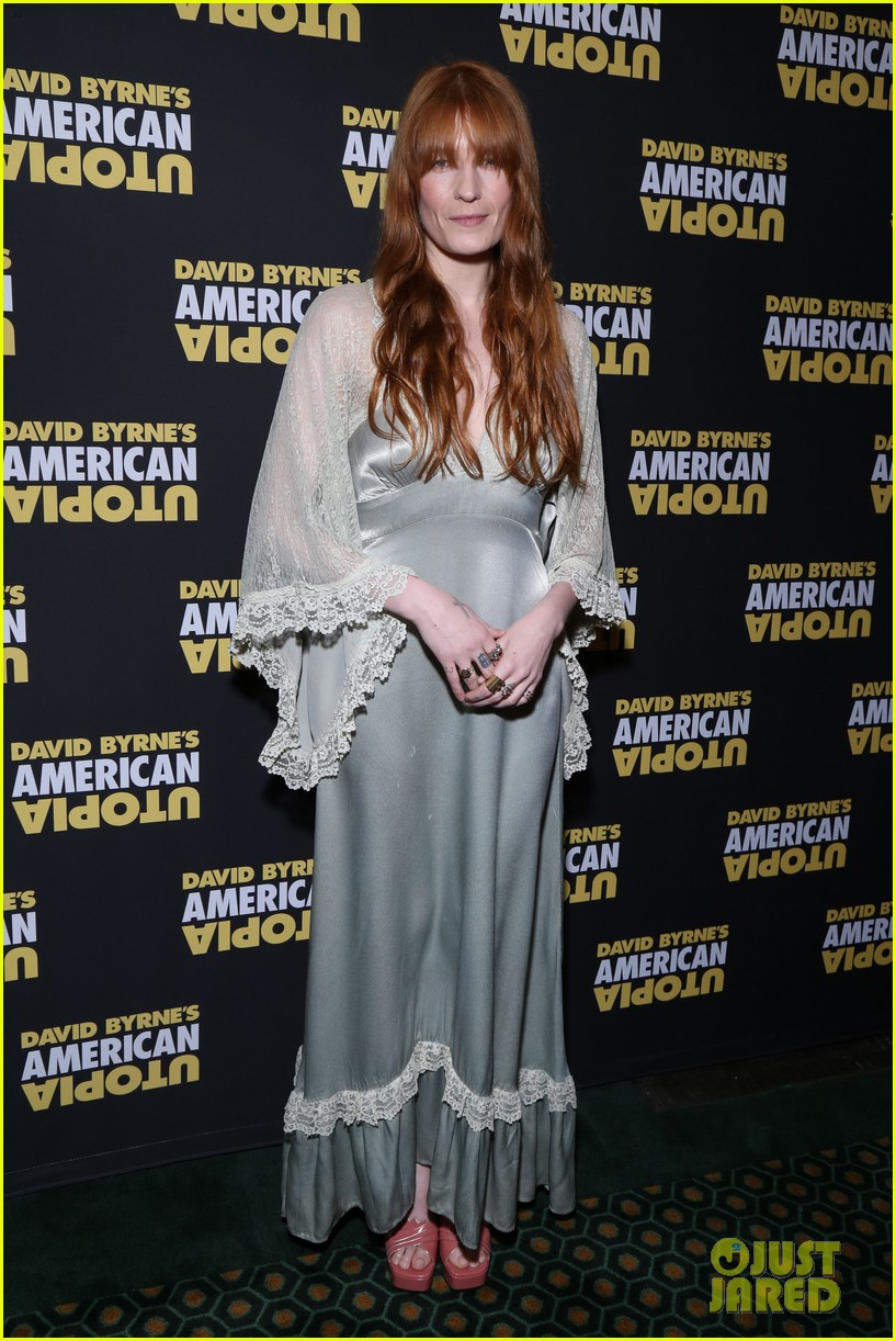 florence welch dazzles in silver american utopia opening night 164374446