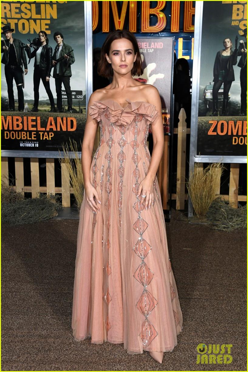 Emma Stone Zoey Deutch More Attend Zombieland 2 L A