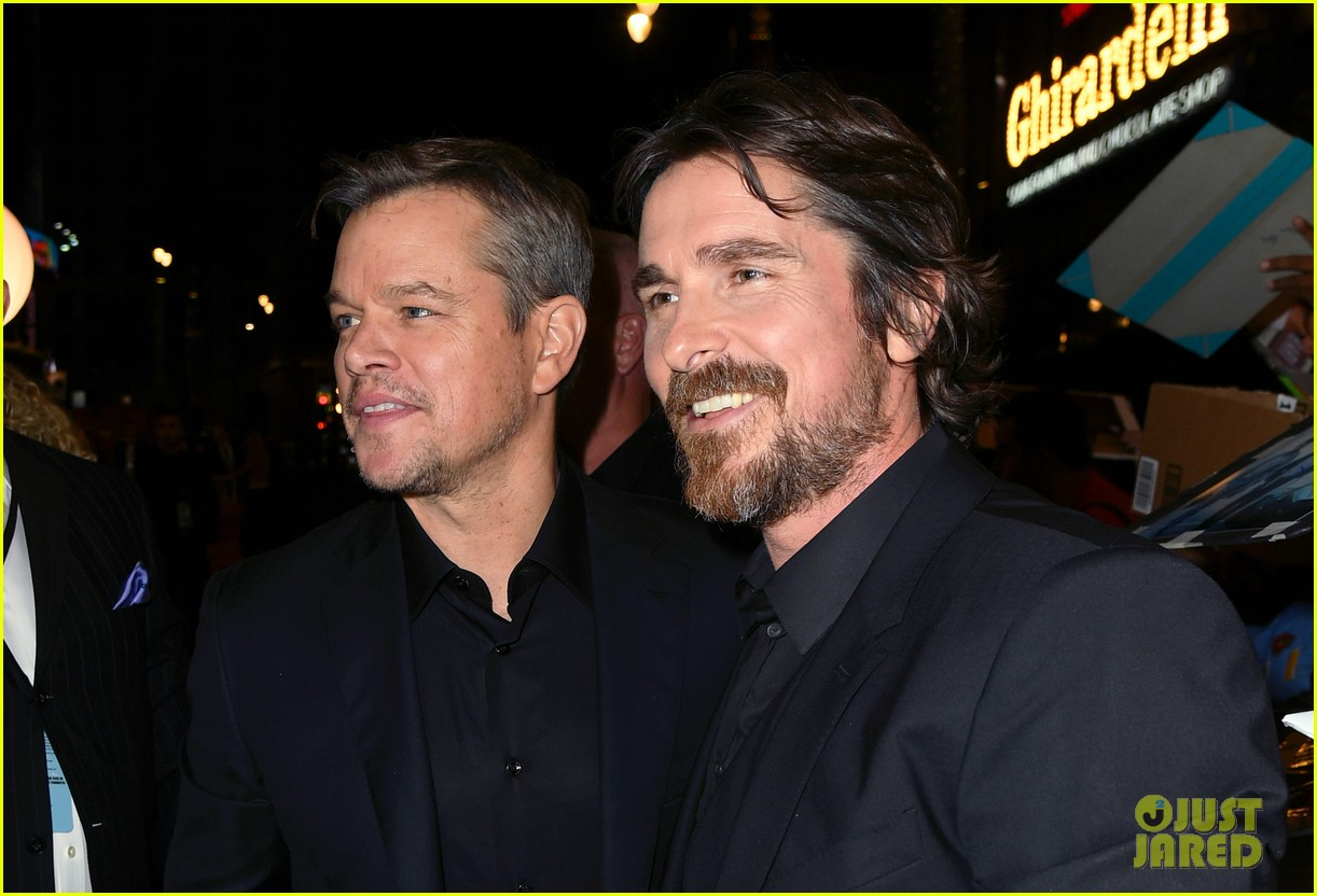 christian bale matt damon suit up ford v ferrari premiere 204382270