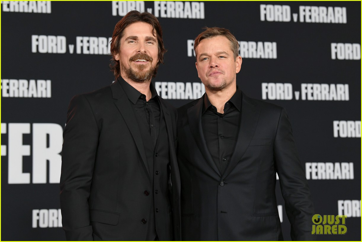 christian bale matt damon suit up ford v ferrari premiere 354382285