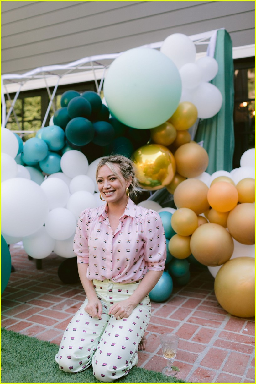 hilary duff daughter banks happy little camper launch 034386406