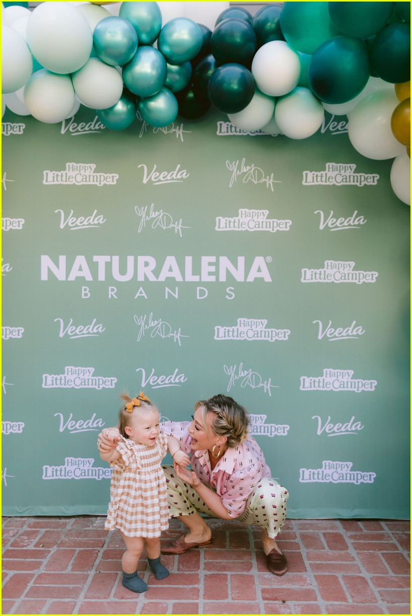 hilary duff daughter banks happy little camper launch 044386407