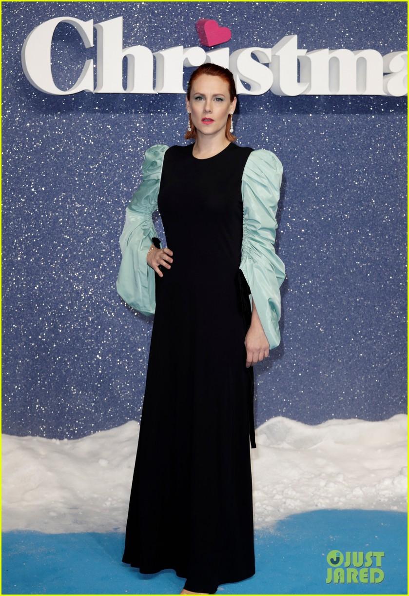 emilia clarke henry golding emma thompson celebrate uk premiere of last christmas 214386389