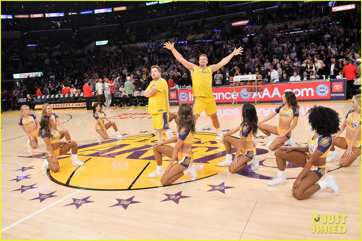 James Corden Rob Gronkowski Hilariously Dance With Laker