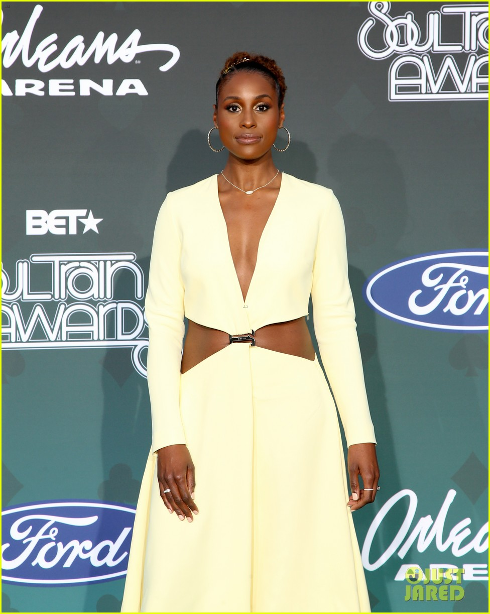 issa rae mj rodriguez h e r more step out in style for soul train awards 024389978