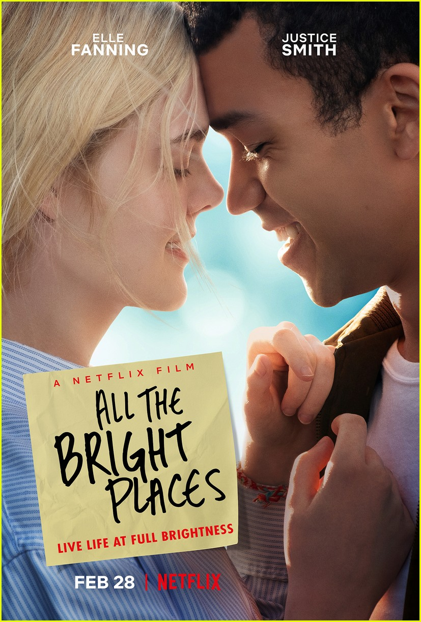 elle fanning justice smith all bright places premiere date key art 014402214