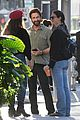 gerard butler shares a laugh with fans at lunch 08