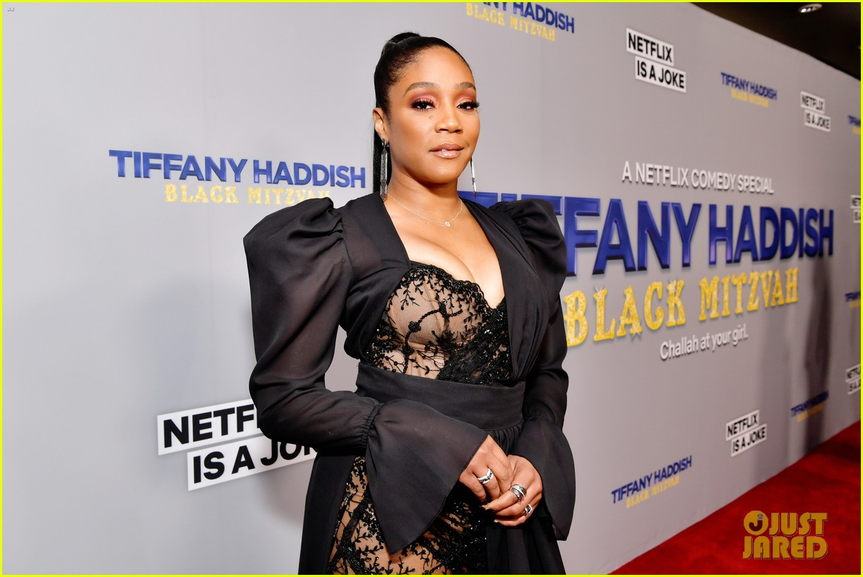 tiffany haddish celebrates her birthday with black mitzvah netflix special party 094397665