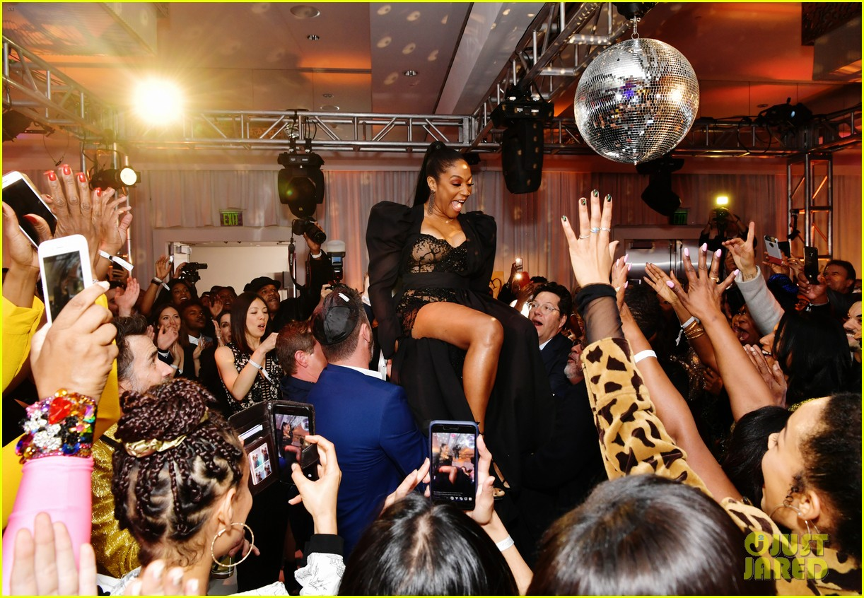 tiffany haddish celebrates her birthday with black mitzvah netflix special party 324397688