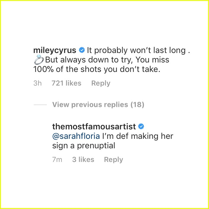 miley cyrus marriage comment 024405373