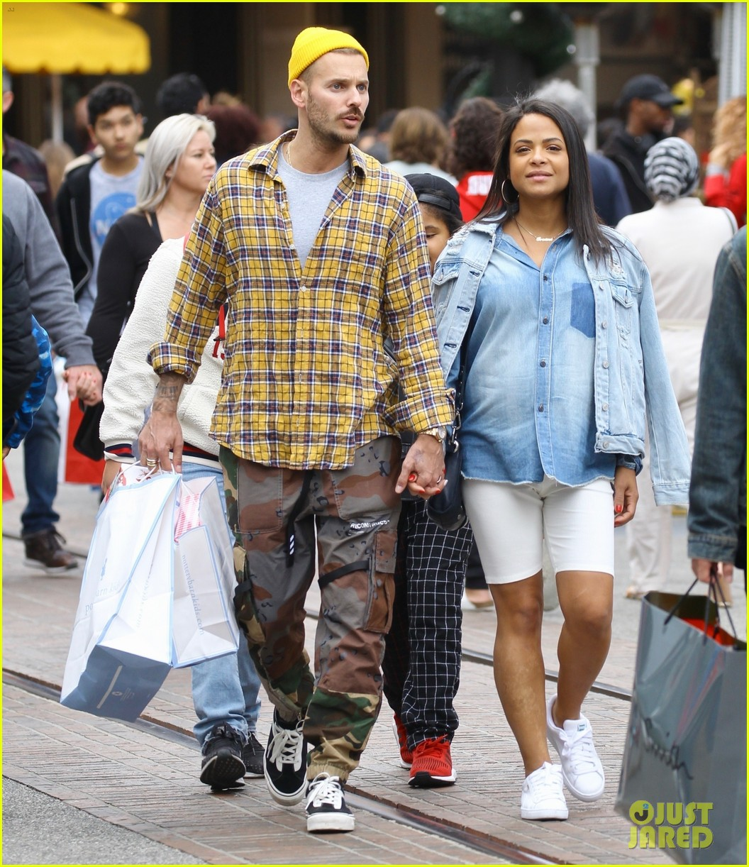pregnant christina milian shopping boyfriend matt pokora 014406106