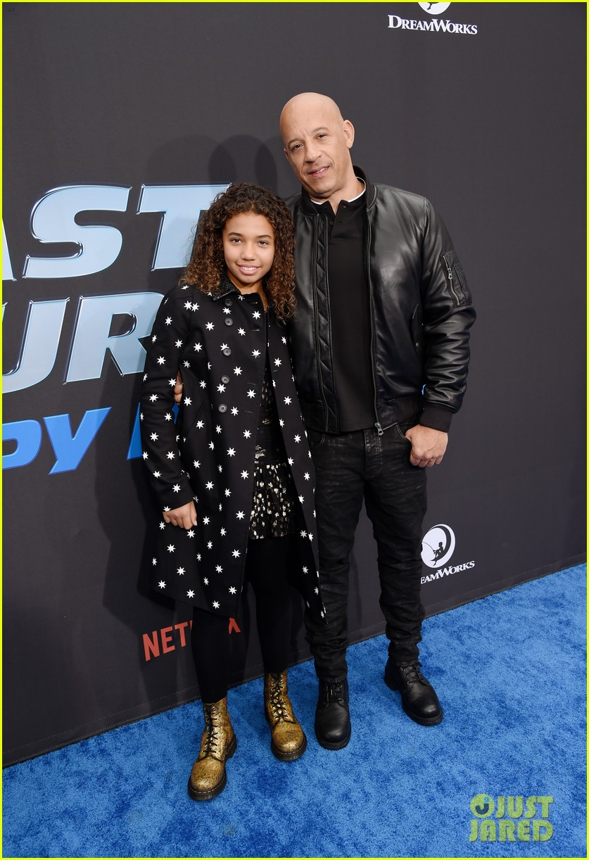 vin diesel supports daughter similce fast furious spy racers premiere 034399875