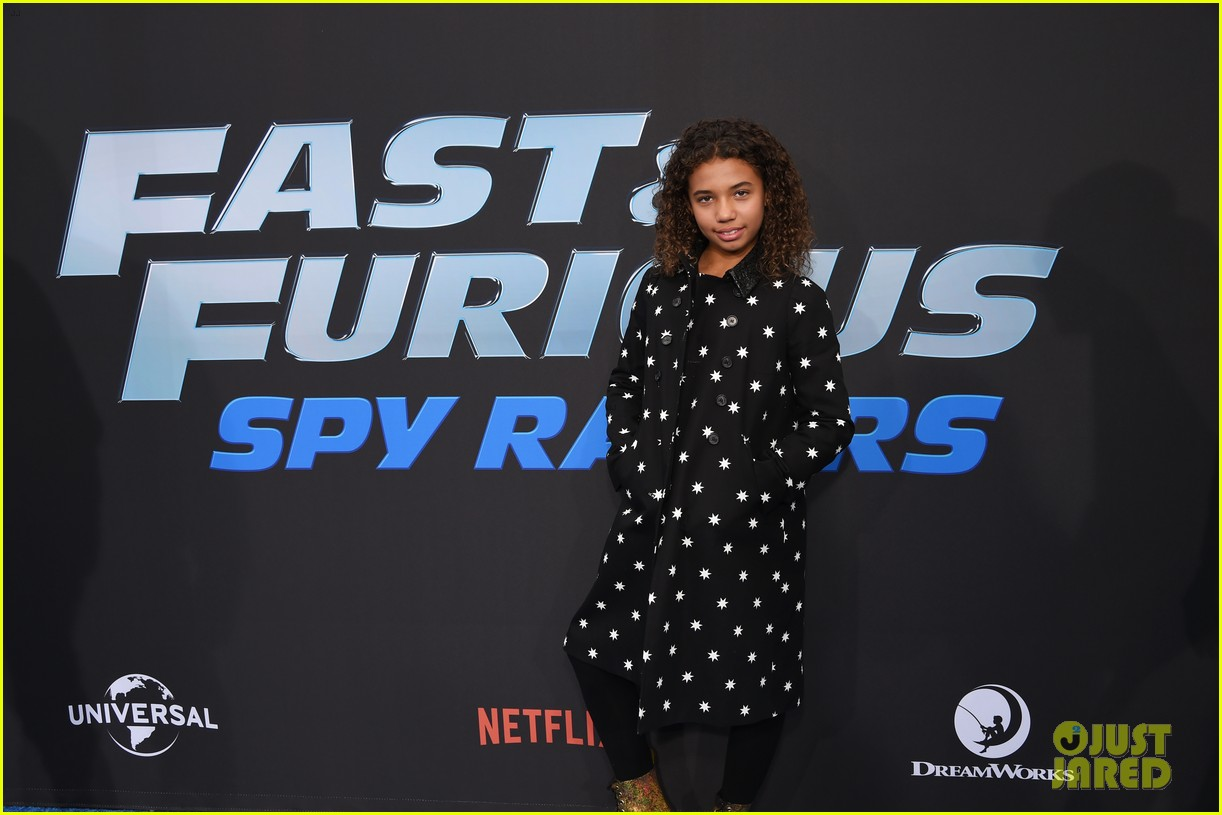 vin diesel supports daughter similce fast furious spy racers premiere 164399888