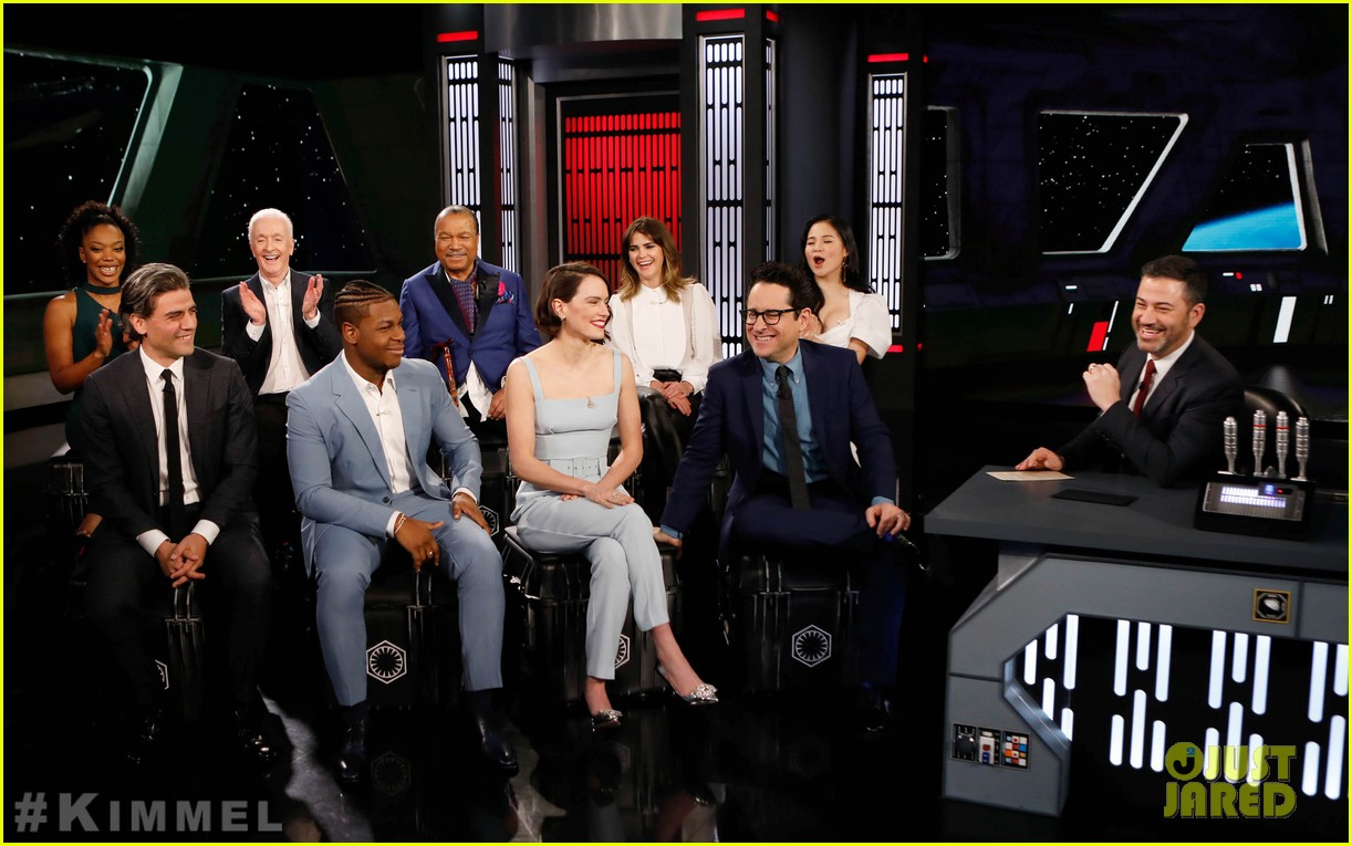 Star Wars The Rise Of Skywalker Cast Faces Off In Family Feud On Kimmel Photo 4404556 Anthony Daniels Billy Dee Williams Daisy Ridley J J Abrams Jimmy Kimmel John Boyega Kelly Marie