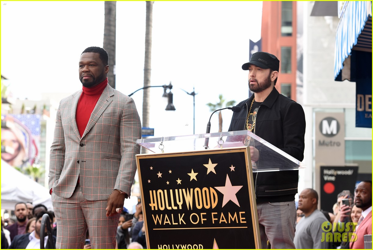 eminem honors 50 cent walk of fame ceremony speech 014426172