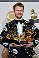 billie eilish finneas pose with their 10 award grammys 12