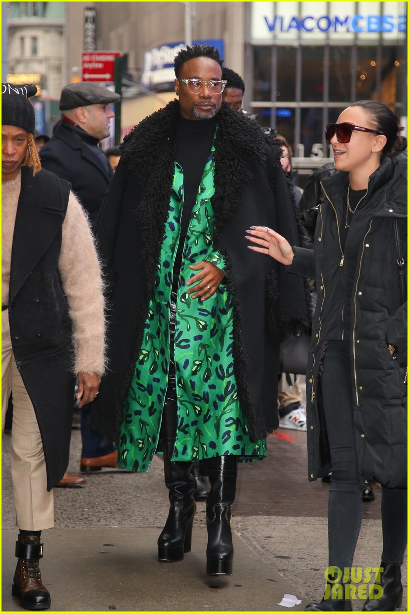 billy porter green coat nyc promos 014413740