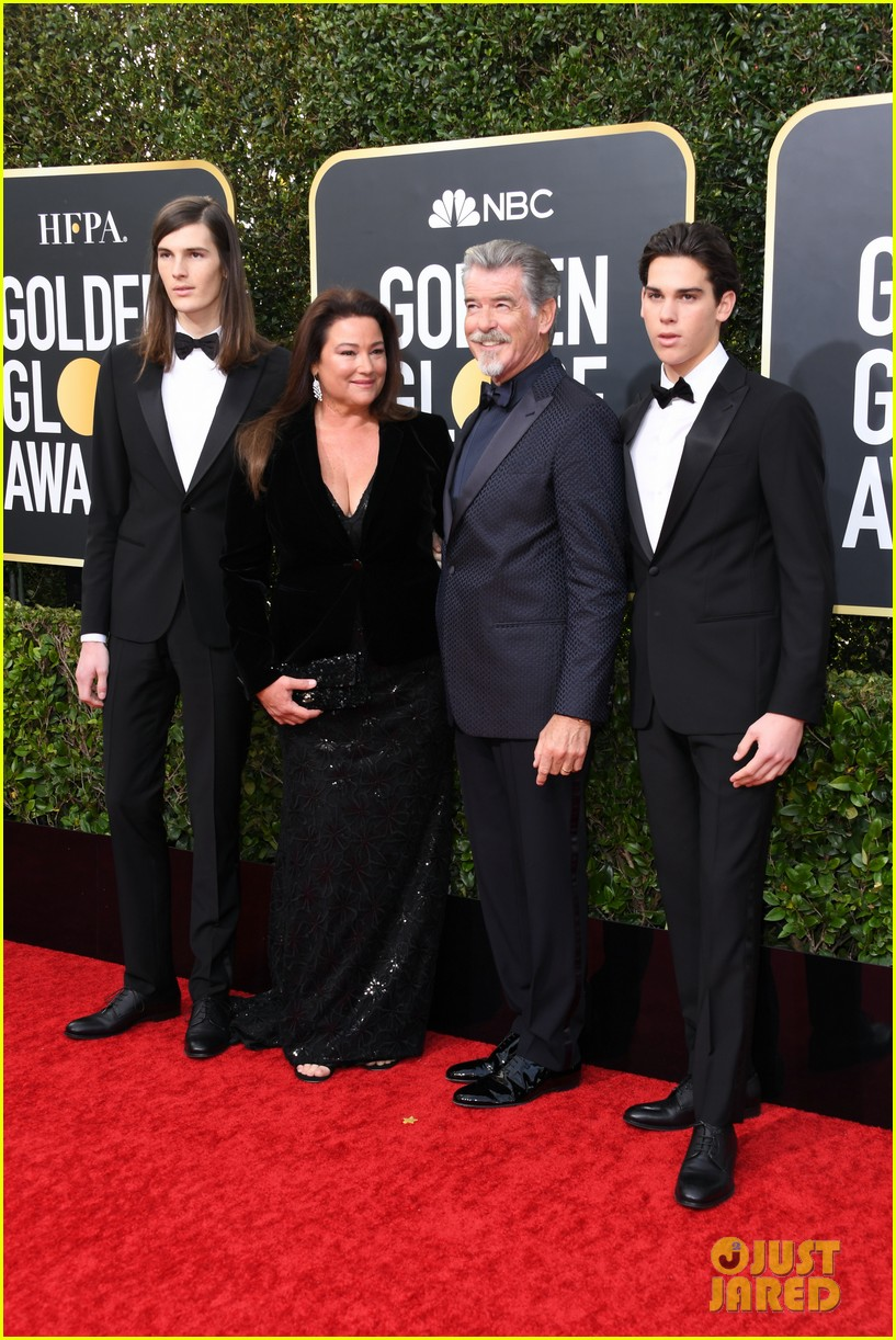 pierce brosnans sons kick off ambassador duties golden globes 2020 054409831