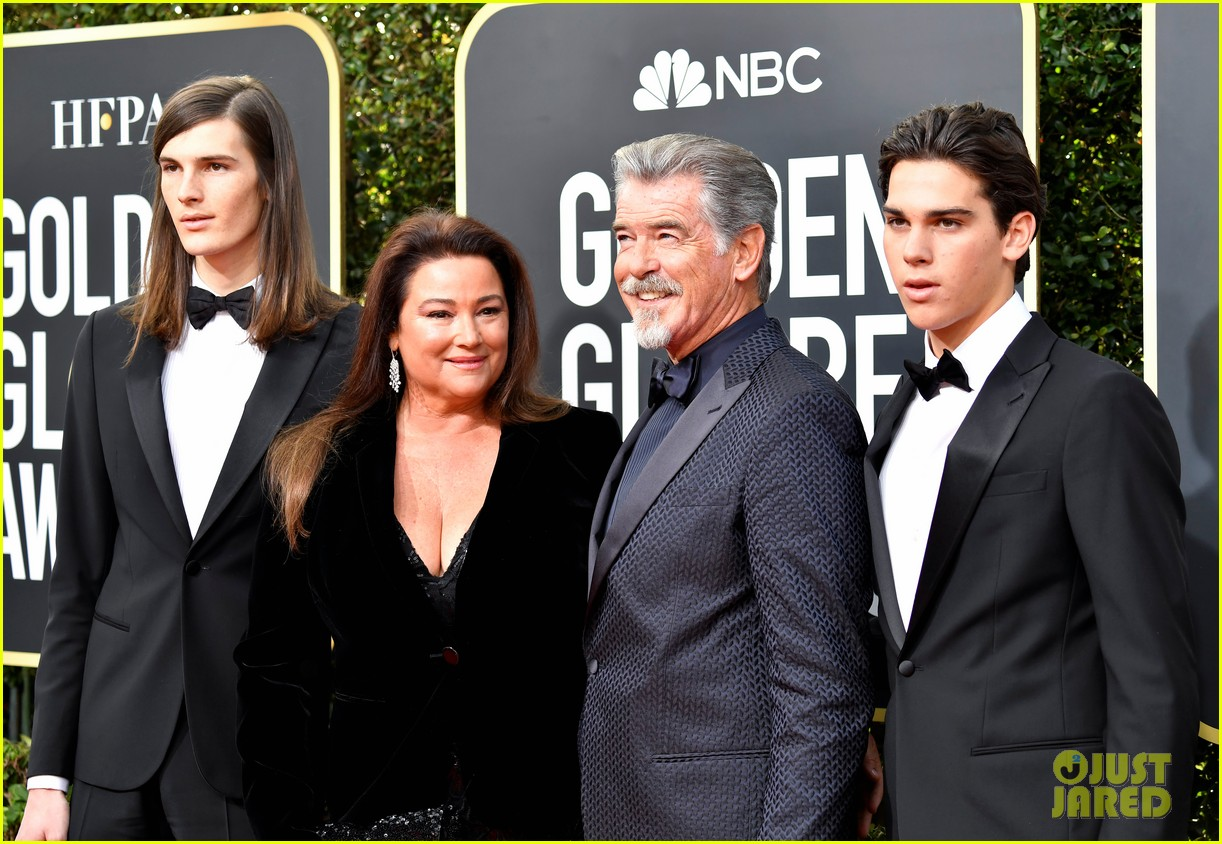 Pierce Brosnan & Son Dylan At 'Once Upon A Time In ...  Pierce Brosnan Son And Noah Cyrus